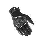 Black/White Super Moto Gloves - 1632-1004