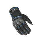 Black/Blue Super Moto Gloves - 1632-1204
