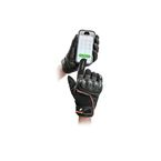 Black/Orange Super Moto Gloves - 1632-1505
