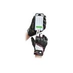 Women's Black/White/Pink Super Moto Gloves - 1634-1904