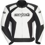 White/Black Latigo 2.0 Leather Jacket - 8992-0209-06