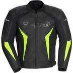 Black/Hi-Viz Latigo 2.0 Leather Jacket - 8992-0213-05