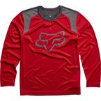 Youth Flame Red Formoso Long Sleeve Shirt - 18125-122-YXL