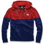Heather Red/Navy Blue Arvius Hoody - 36012-003-12