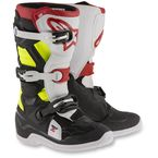 Black/Red/Flo Yellow Youth Tech 7S Boots - 2015017-136-3