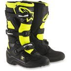 Black/Flo Yellow Youth Tech 7S Boots - 2015017-155-5