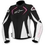 Black/White/Pink Womens Stella T-Jaw Waterproof Jacket - 3211017-1239-XL
