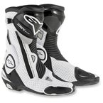 Black/White SMX Plus Vented Boots - 2221015-122-36