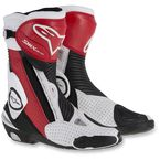 Black/Red/White SMX Plus Vented Boots - 2221015-1322-36