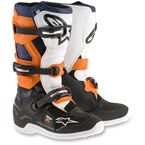 Black/Orange/White/Blue Youth Tech 7S Boots - 2015-1427-5