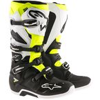 Black/White/Yellow Tech 7 Enduro Boots - 2012114-125-10