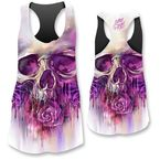 Womens Painted Skull Tank Top  - LT20384L