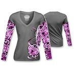 Womens Heart Lock Tattoo Long Sleeve Shirt - LT20343L