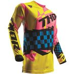 Yellow/Pink Pulse Louda Jersey  - 2910-4263