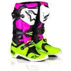 Limited Edition Radiant Black/Pink/Flo Yellow Tech 10 Boot - 2010014-1395-10