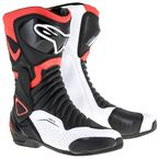 Black/Red/White SMX 6 V2 Vented Boot - 2223017-1320-38