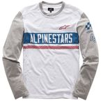 White Motovate Long Sleeve Knit Shirt - 101742009-20-2X