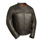 Black The High Roller Leather Jacket - FIM-230-NOCZ-5X-3X