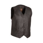 Black The Texan Leather Vest - FIM-643-CCB-L
