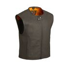 Black The Cleveland Leather Vest - FIM-615-CM-2X