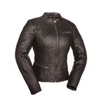 Women's Black First Fashionista Leather Jacket - FIL-108-CCBZ-M