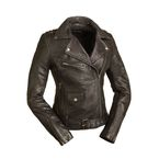 Women's Black Iris Leather Jacket - FIL-184-CJ-M