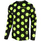 Black/Fluorescent Yellow GP Air Polka Dot Jersey - 304491254