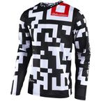 Youth White/Black GP Air Maze Jersey - 306492124