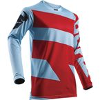 Powder Blue/Red Pulse Level Jersey - 2910-4363