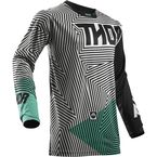 Black/Teal Pulse Geotec Jersey - 2910-4375