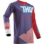 Red/Blue Pulse Geotec Jersey - 2910-4381