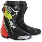 Black/Red/Fluorescent Yellow Supertech R Boots - 2220015-136-39