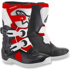 Kids Black/White/Red Tech 3S Boots - 2014518-1231-10