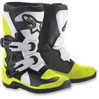 Kids Black/White/Yellow Tech 3S Boots - 2014518-125-10