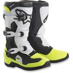 Youth Black/White/Yellow Tech 3S Boots - 2014018-125-2