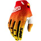 Red/Yellow Ridefit Gloves - 10001-037-12