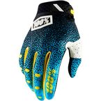 Cyan/Black Ridefit Gloves - 10001-107-12