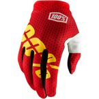Fire Red I-Track Gloves - 10002-067-12