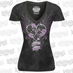 Womens Black Heart Breaker T-Shirt - LT20434L