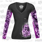Womens My Nightmare Tattoo Sleeve Shirt - LT20428L