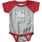 Infant Red Script One-Piece Supermini - 3032-2689