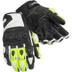 White/HiViz Impulse ST Gloves - 8306-0113-05