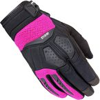 Women's Black/Pink DXR Gloves - 8316-0108-76
