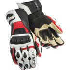 White/Red Latigo 2 RR Gloves - 8391-0201-06