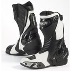 White/Black Latigo Air Road Race Boots - 8591-0109-44