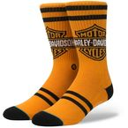 Orange Harley Davidson The Shield Socks - M556D16TSH-LG