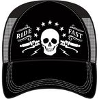 Black/Grey Ride Fast Snap-Back Hat - HT82074