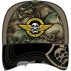 Camo Army Skull Snap-Back Hat - HT82017