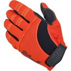 Orange/Black/Yellow Moto Gloves - GL-MED-OY-BK