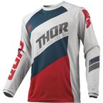 Light Gray/Red Sector Shear Jersey - 2910-4896